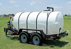 Other sizes of water trailers are available