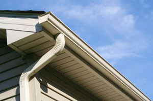 Eaves and downspout