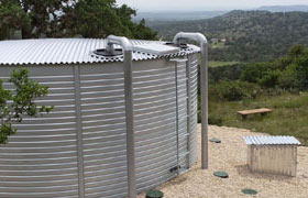 corrugated rainwater collection tank
